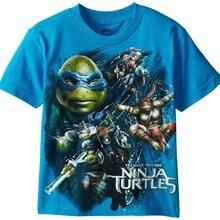 Летняя одежда с черепашками-ниндзя для подростков; детская футболка с короткими рукавами