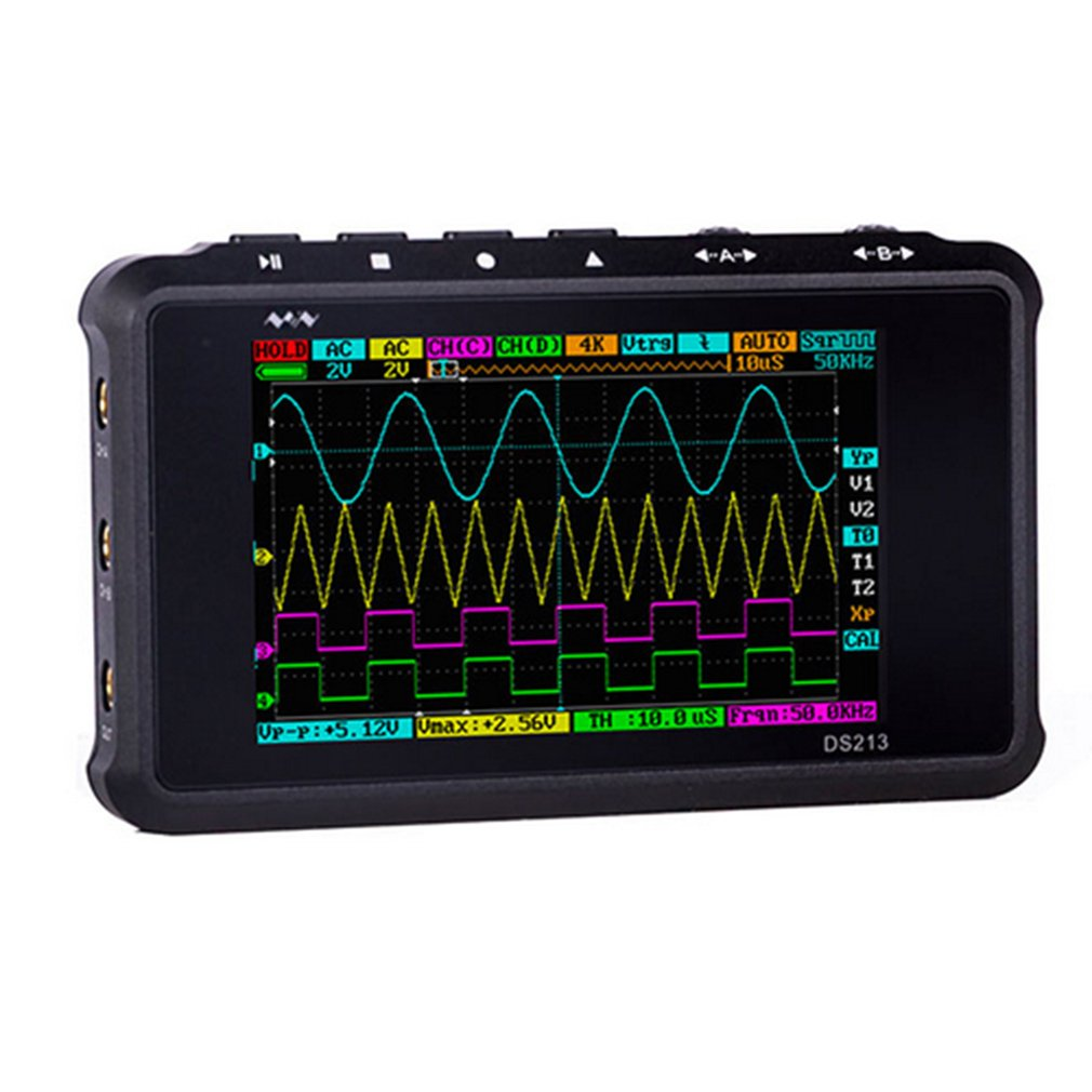 4 Channel 100MS/s MINI Nano DSO213 DS213 Professional Portable Digital Oscilloscope Digital DSO 213 DS 213 with X1 & X10 Freeshi image