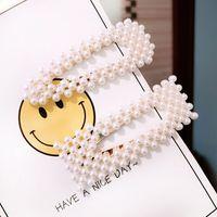 4 Pcs/set New Women Girls Hairpin Cute Small Beads Hair Clips Artificial Pearl BB Side Bangs Clip Y4QB