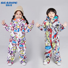 Kids Ski Suit Children Brands Waterproof Warm Girls And Boy Snow Jacket And Pants Winter Skiing And Snowboarding Clothes Child cheap Microfiber O-Neck 145872144 Fits true to size take your normal size Jackets Anti-Pilling Waterproof warm breathable and windproof