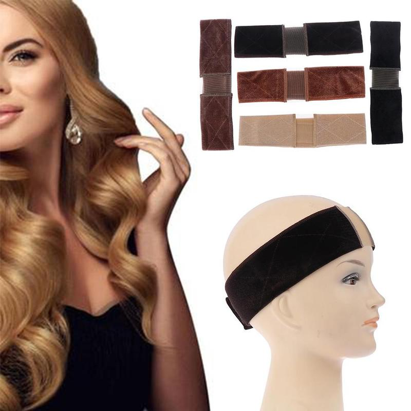 Adjustable Soft Velvet Women Lace Wig Grips Headband Hair Scarf Band Non-slip Lace Parting Wig Grips Headband 5 Colors