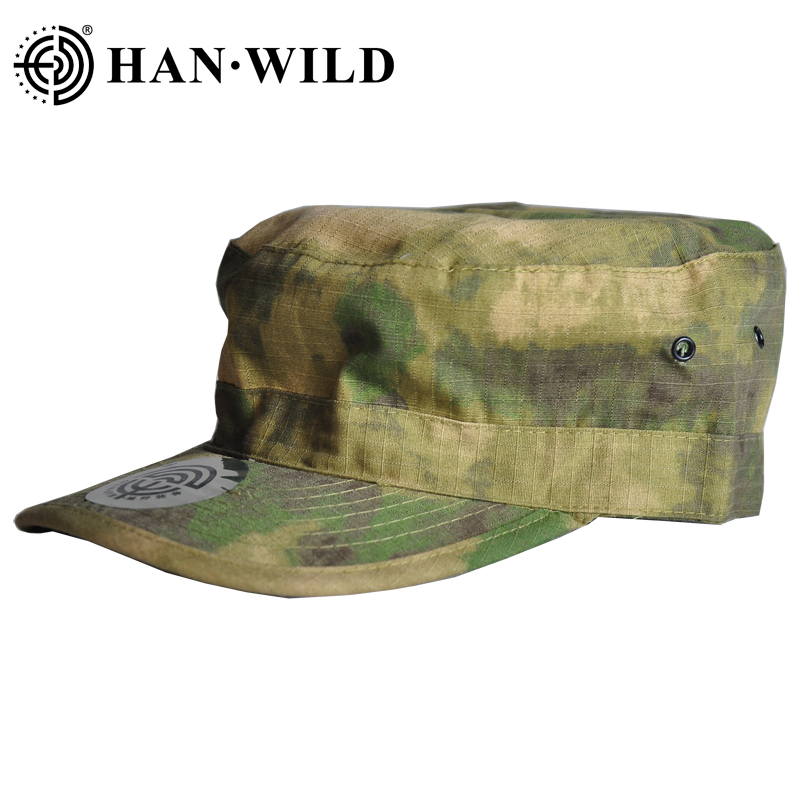 HAN WILD Tactical Airsoft Flecktarn Camouflage Cap Men US German Soldiers Combat Army Baseball Cap Unisex Paintball Flat Hats