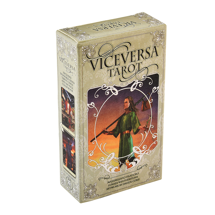 Vice Versa Tarot Kit Cards Both Sides Of The Card, One Side Showing The Front View And One Side The Back View