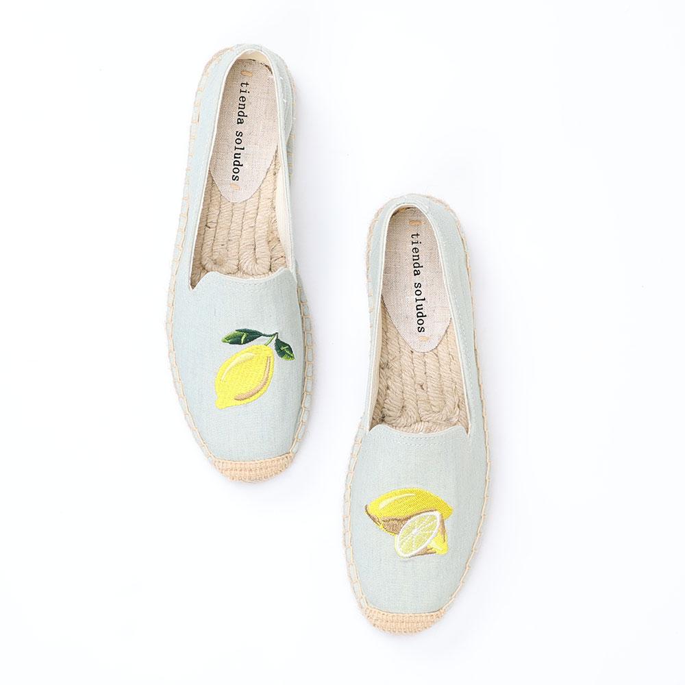 Tienda Soludos Espadrilles Flats Shoes Zapatillas Mujer Sapatos Woman Ladies Slip-on Breathable Walking Flat Espadrille Slip