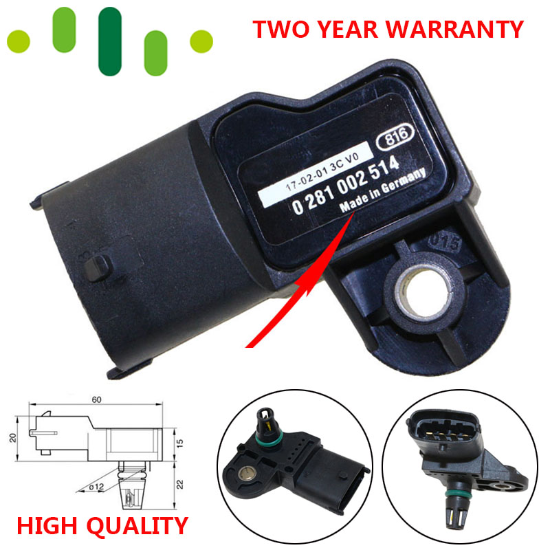 Manifold Absolute MAP Sensor Intake Air Boost Pressure Sender For FIAT DUCATO Box Platform Chassis 2.3 2.8 JTD Diesel 500351377