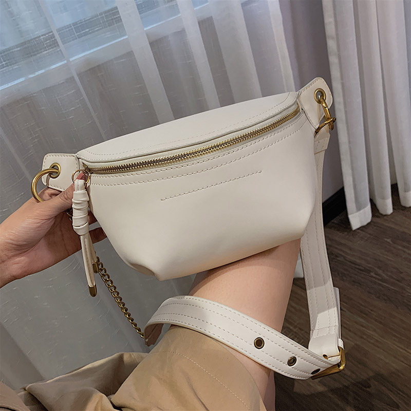 Fashion Women's Waist Bags 2019 New Ladies Shoulder Bag Brand Design Chest Bag Crossbody Bags High Quality PU Chain Fanny Pack
