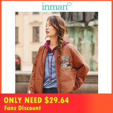 INMAN 2019 Autumn New Arrival Casual Baseball Neck Fashion All Matched Short Women Padded Coat