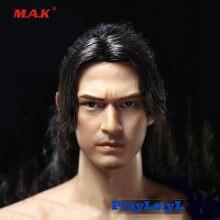 Красивая Мужская голова 1/6 лепка takeshi kaneshiro модель с