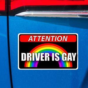 Image 5 - 11,5 CM * 7CM Universal Reflektierende Kreative Auto Fahrer Ist Homosexuell PET Aufkleber Aufkleber Dropshipping