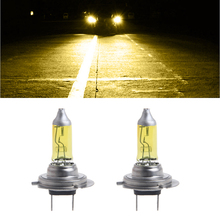 1 Pair Car Headlight H7 Lamp Super Bright Car Halogen Bulb 100W Fog Light DC 12V