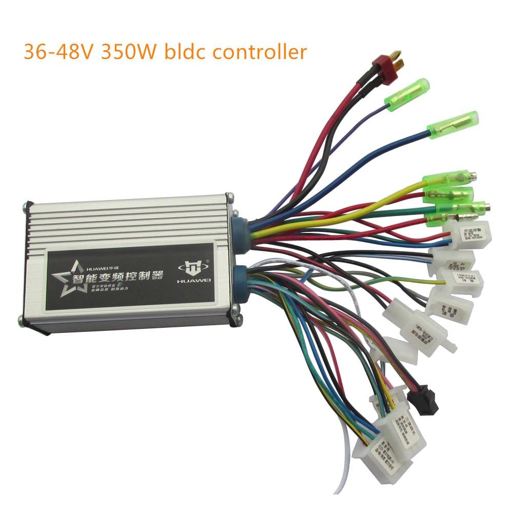36V 48V 350W Ebike Controller Electric Scooter Brushless Controller With PAS For Electric Bike/hub Motor/bldc Motor