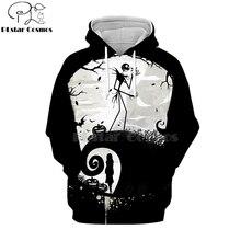 PLstar Cosmos nightmare before christmas jack skellington 3d hoodies/shirt/Sweatshirt Winter Christmas Halloween streetwear-4