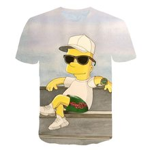 2020 new Simpson T-shirt 3d Anime  Funny Printed T Shirts  boys girls Fashion  Tee Male Clothing Sexy Tops Hip Hop Casual tee
