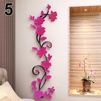 New Fashion Home Living Room Decorations Wall Stickers 3D Flower Removable DIY Wall Sticker Decal Mural bedroom decor 7