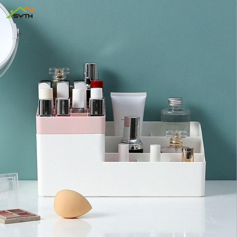 Organizador de maquiagem nova escova batom quadro olho sombra jóias clamshell caixa de armazenamento cosméticos maquiagem ferramenta caixa de armazenamento