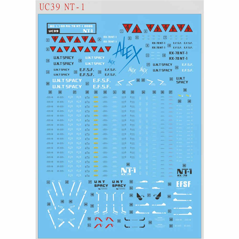 DIY zjeżdżalnia wodna naklejki na Bandai MG 1/100 RX-78 NT-1 Gundam Alex ver 2.0 Model naklejka