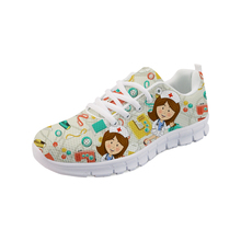 Nurse/doctor/dental Pattern Shoes Comfortable Lightweight Sneakers Platform For Teenager Girls White Running Shoes Calzado Mujer