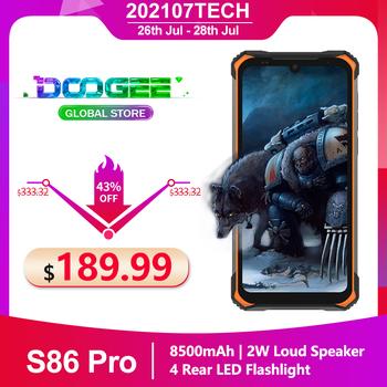 Doogee S86 Pro IP68 wytrzymały smartfon 8500mAh 6 1 #8221 8GB + 128GB Helio P60 globalne zespoły potrójny aparat termometr telefon komórkowy tanie i dobre opinie Niewymienna 22 5W CN (pochodzenie) Android Zamontowane z boku Rozpoznawanie twarzy 16MP Adaptacyjne szybkie ładowanie english