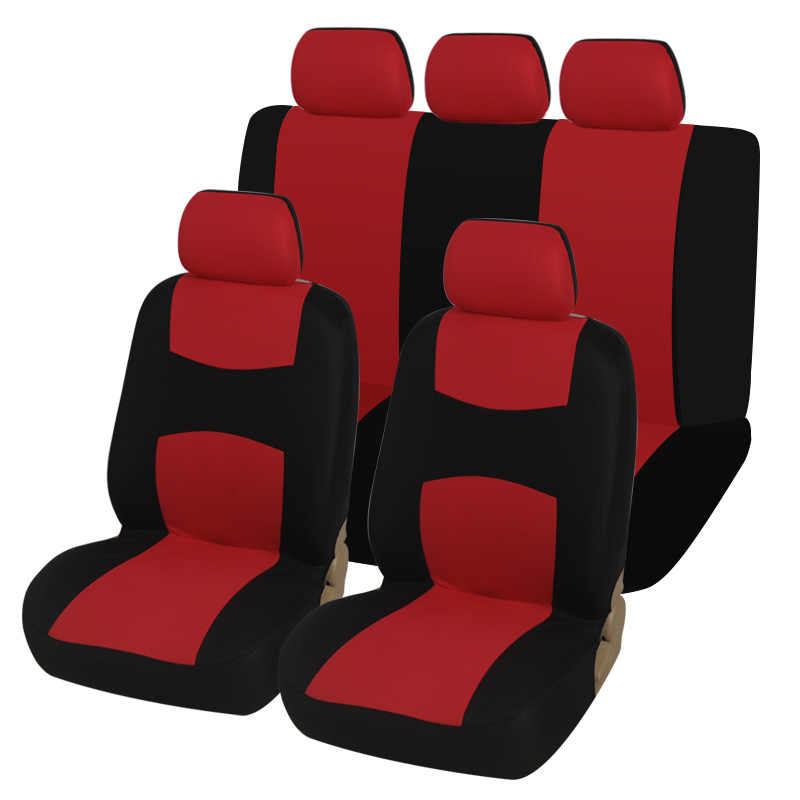 4PCS Beige AUTOYOUTH Car Seat Covers Universal Fit Full Set Car Seat Protectors Tire Tracks Car Seat Accessories