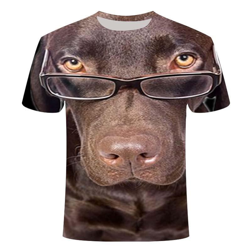 Men's animal T-shirt dog / pet 3D printed T-shirt men's funny T-shirt short-sleeved O-collar 3D printed summer clothes 110-6XL