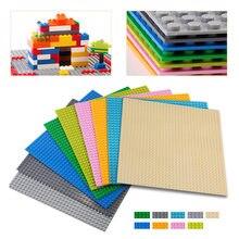 Diy grande 32 pontos duplie partículas blocos de construção placa base iluminar tijolos do bebê brinquedos para crianças presentes aniversário