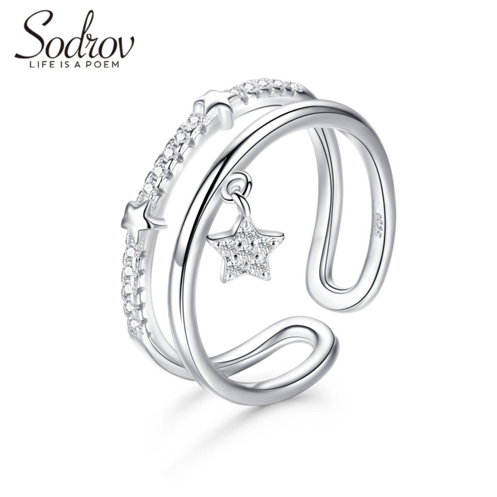 Star Ring 925 Sterling Silver Open Size Adjustable Silver Rings Jewelry Ring For Women Silver 925 Jewelry