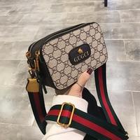 Новая модная трендовая сумка-мессенджер сумка для камеры с принтом контрастного цвета маленькая квадратная сумка дикая сумка на плечо
