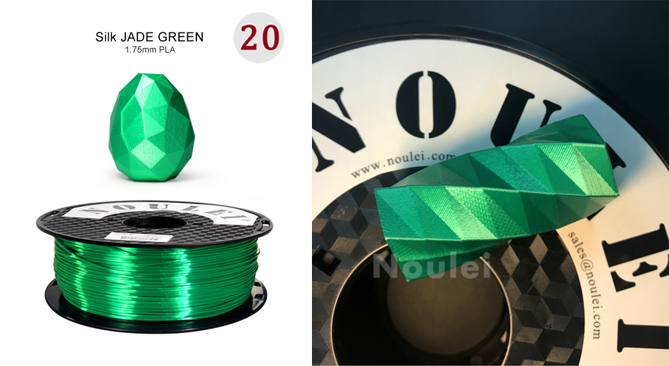 filamento pla 1.75mm 1kg de metal brilhante