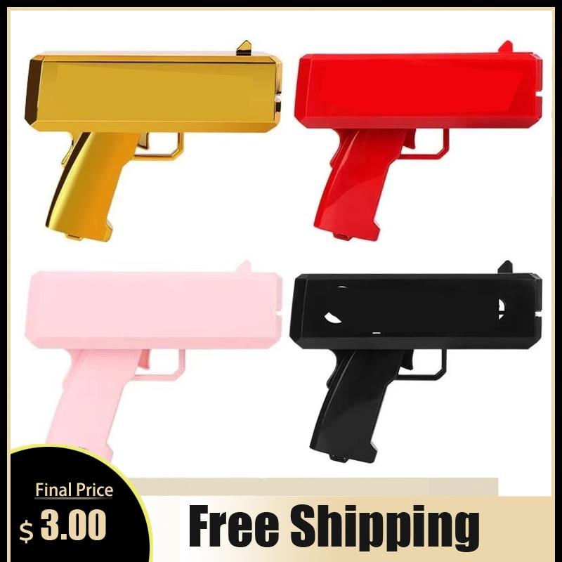 Tukat-pistola de dinero rojo para hacer lluvia, 100 juguete de Uds., al aire libre juego de fiesta, divertido, regalo de moda