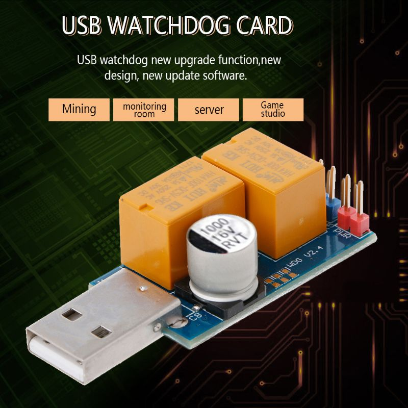 USB Watchdog Computer Automatic Restart Blue Screen Mining Game Server BTC Miner -1