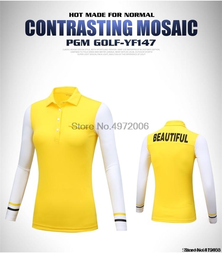 Pgm feminino outono inverno camisetas de treinamento
