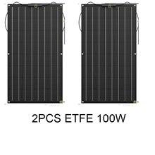 JINGYANG haute efficacité 32 cellules Sunpower 100W 18V ETFE Semi Flexible panneau solaire panneau photovoltaïque chargeur de batterie solaire