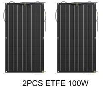 JINGYANG wysoka wydajność 32 ogniwa Sunpower 100W 18V ETFE pół elastyczny panel słoneczny panel fotowoltaiczny ładowarka solarna