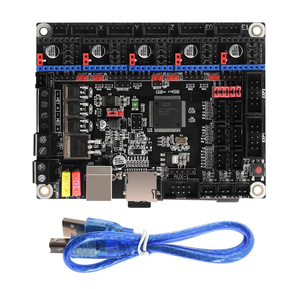 Skr V1.3 Control Board 32 Bit Arm Cpu 32Bit Mainboard Smoothieboard For 3D Printer Accessories Reprap