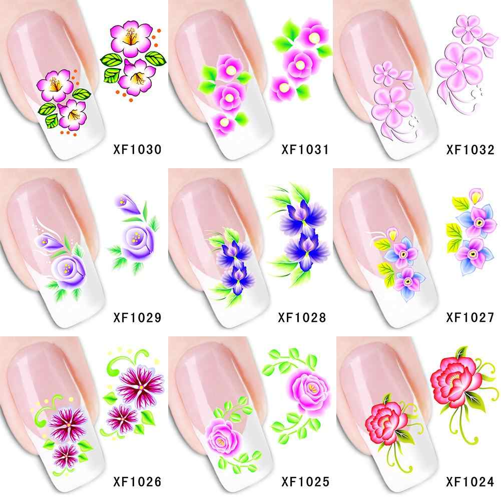 Nieuwe Nail Art Decal Zelfklevende Sticker Mode Bloem Patroon Nail Manicure Decor Stickers & Decals