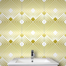 10PCS Geometric Tile Sticker Waterproof Wear-Resistant Marble Matte crystal wall Stickers marble tile stickers 20*20CM