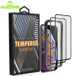 3 pacote de Protetor de Tela para iPhone XS XR XS Max 10X Forte do Novo Vidro Temperado Protector grátis Aplicador para o iphone 11 Pro Max