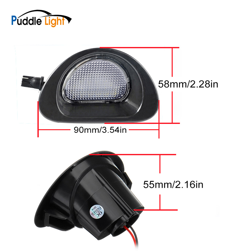 2pcs White LED Car License Plate Light For CITROEN C1 2005-13 For Peugeot 107 2005-14 Auto Led Licence Plate Light Car-Styling