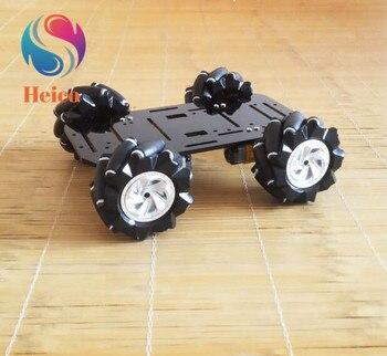 Шасси колеса Mecanum, двигатель постоянного тока, шасси автомобиля с амортизацией 4WD всенаправленный мобильный DIY робот игрушка