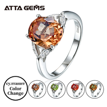 Diaspore Sterling Silver Women Ring Created Diaspore S925 Ring Color Changes Stone Special Design Wedding Birthday Gifts