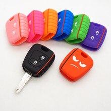 Cocolockey с надписью «Don't Touch My ключ 2 кнопки силиконовый чехол для ключей от машины для Citroen C1 C2 C3 C4 Xsara Picasso для Peugeot 106 107 206 207 307