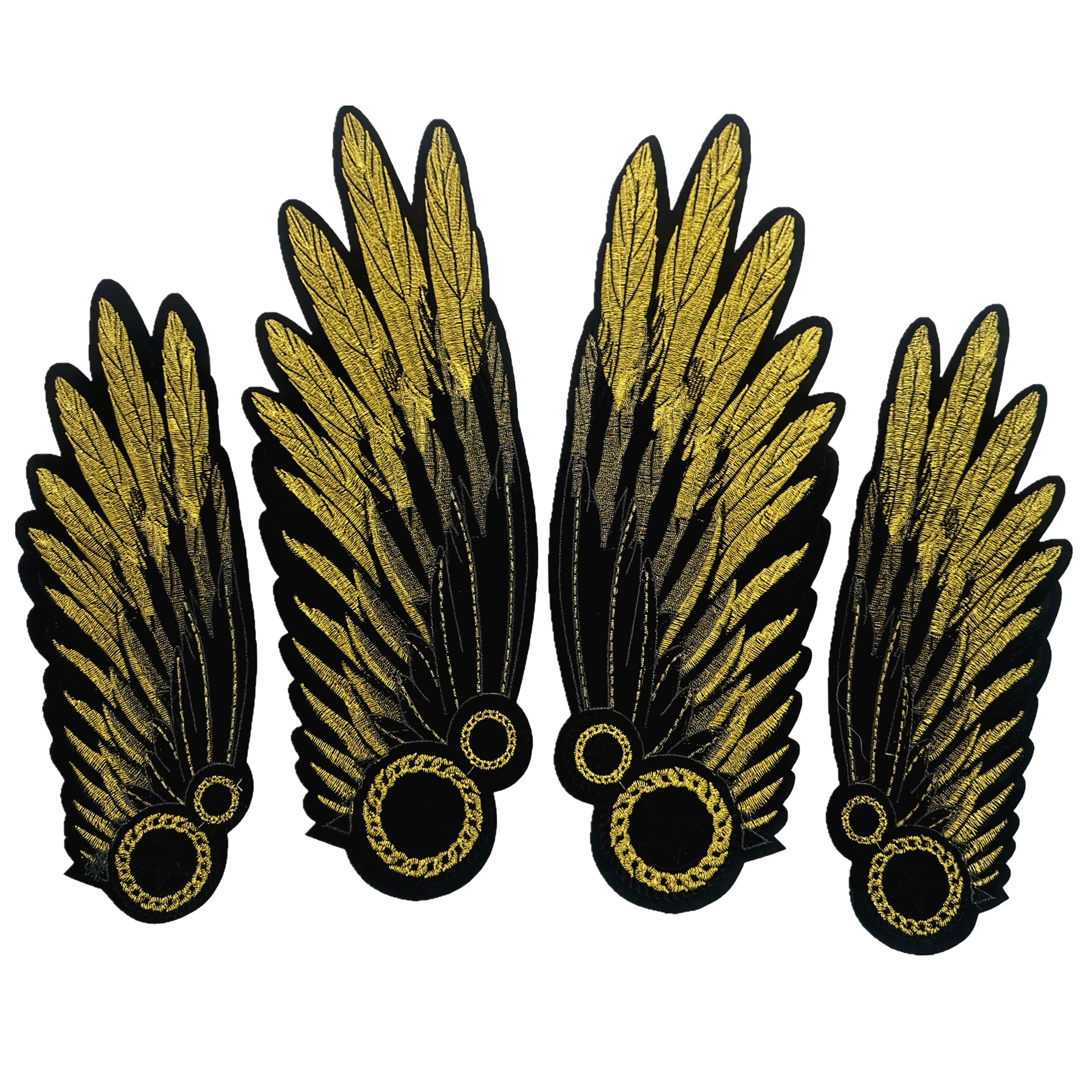 Gold Thread Embroidery European And American Fashion Cloth Clothing Accessories Diy Decorative Patch Applique Wings