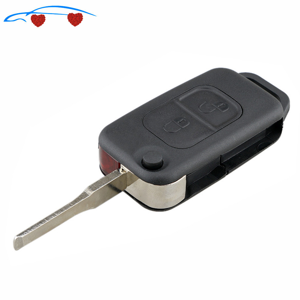 2020 New Car <font><b>key</b></font> case Flip Folding car Shell Remote <font><b>Key</b></font> Fob Case 2 Button ForMercedes Benz SLK E113 A C E S W168 W202 <font><b>W203</b></font> HOT! image