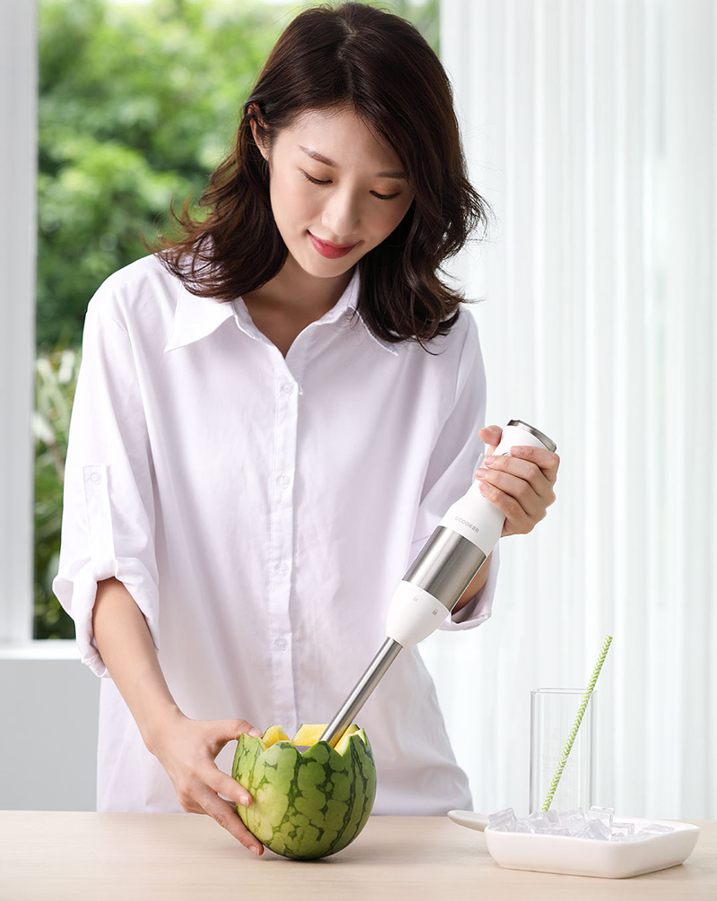 H3323757239ff4faa81b1b755b721d7d3r XIAOMI MIJIA QCOOKER CD-HB01 hand Blender Electric Kitchen Portable Food Processor mixer juicer Multi function Quick Cooking