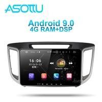 Asottu HY601 android 9.0 PX6 car dvd navigation For hyundai creta 2015 2019 gps stereo car multimedia player dvd