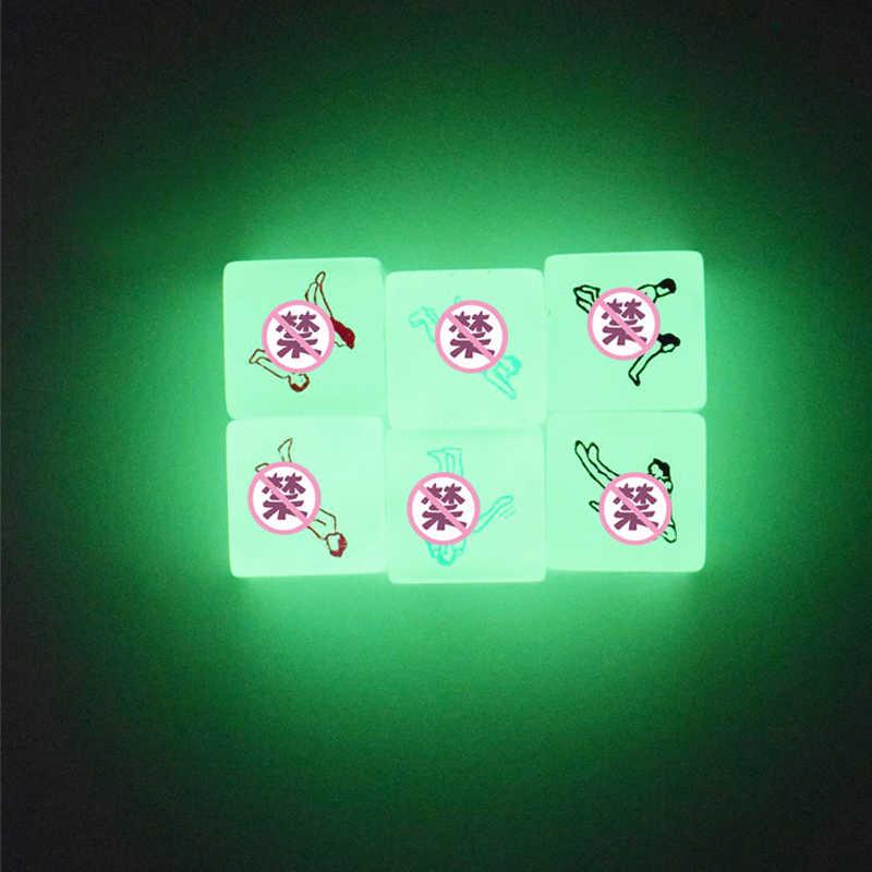2Pcs זוהר סקסי קוביות זוגות קוביות אקזוטי יציבה לשחק קוביות אהבת קוביות סקס צעצועי רומנטיקה הימורים משחקים למבוגרים