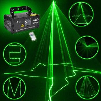 Remote 50 MW Hijau Laser Panggung Profesional Efek Pencahayaan DMX 512 Scanner DJ Disko Partai Acara Lampu