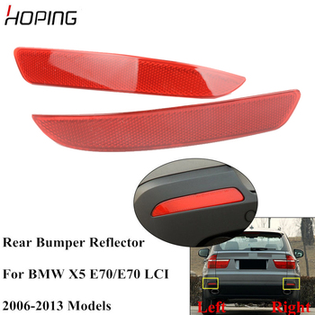 Hoping Auto Rear Bumper Light Reflector For BMW X5 E70 2006 2007 2008 2009 2010 2011 2012 2013 Rear Warning Fog Lamp image