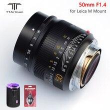 TTartisan 50mm F1.4 ASPH objectif de caméra grande ouverture pour Leica M monture caméra MF mise au point manuelle caméra Lenes