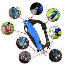 EDC Hanging Buckle Hike Multifunctional Folding Knife Tool Camping Carabiner Multipurpose Mountain Climb Outdoor Gear Key Chain